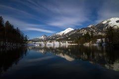 Kamniš KE Alpe Alpen die in een licht van de ochtendwinter glanzen Stock Foto's