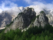 Kamnik Alps. Are mountains in Slovenia, part of Southern Limestone Alps Royalty Free Stock Photo