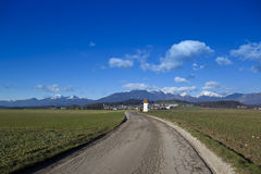 Kamnik Alpspanorama arkivfoto