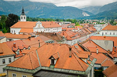 Kamnik, Slovenia. Town panorama and mountains Royalty Free Stock Image