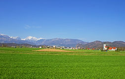Kamnik view from distance 1 Royalty Free Stock Image