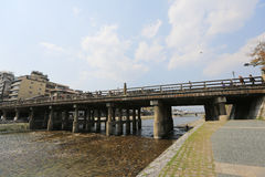 Kamo-gawa, Kyoto Stock Images