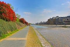 Kamo-gawa river in Kyoto, Japan Stock Photography