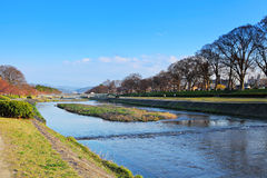 Kamo River in Japan Stock Photos