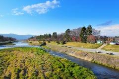 Kamo river in Kyoto Royalty Free Stock Photos