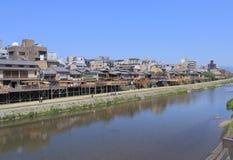 Kamo river Kyoto Japan Royalty Free Stock Photo