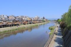 Kamo river Kyoto Japan Stock Photos
