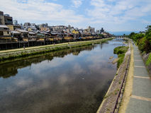 Kamo River in Kyoto Royalty Free Stock Photography