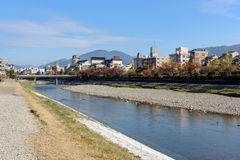 Kamo River, Kyoto - Japan Royalty Free Stock Image
