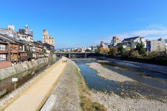 Kamo River, Kyoto - Japan Royalty Free Stock Photos
