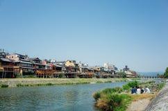 Kamogawa rzeka Obrazy Royalty Free