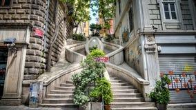 Kamondo台阶伊斯坦布尔土耳其 免版税库存照片