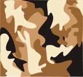 kamouflageökenmilitär Arkivbilder