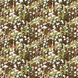 Kamouflage förtjänar, den sömlösa modellen för camoflagesilduk eller textur royaltyfri illustrationer