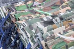 Kamouflage flåsar variation royaltyfria foton