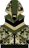 Kamouflage Gilet stock illustrationer