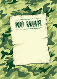 Kamouflagebakgrund ingen krigvektorillustration Stock Illustrationer