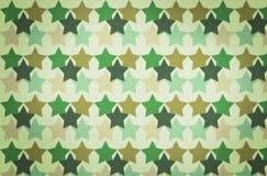Kamouflagemodell med stjärnorna Royaltyfri Bild