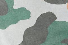 Kamouflagemodell och bakgrund Arkivfoto