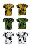 kamouflageskjorta t Royaltyfria Foton