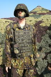 kamouflerad soldat Royaltyfria Foton