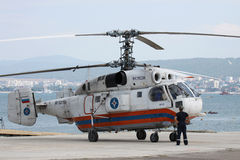 Kamov Ka-32 helicopter Royalty Free Stock Images