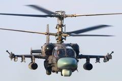 Kamov Ka-52 laissant à Kubinka la base aérienne, région de Moscou, Russie Image libre de droits