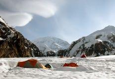 Kamp in Alaska denali Stock Afbeelding