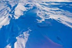 Kamp Barneo bij de van de de sneeuw duidelijke sneeuw van de het noordenpool van het de kubuspatroon de sneeuwvlokkenlijnen Royalty-vrije Stock Afbeelding
