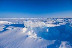 Kamp Barneo bij de van de de sneeuw duidelijke sneeuw van de het noordenpool van het de kubuspatroon de sneeuwvlokkenlijnen Royalty-vrije Stock Fotografie
