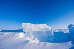 Kamp Barneo bij de van de de sneeuw duidelijke sneeuw van de het noordenpool van het de kubuspatroon de sneeuwvlokkenlijnen Royalty-vrije Stock Afbeeldingen