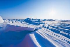 Kamp Barneo bij de van de de sneeuw duidelijke sneeuw van de het noordenpool van het de kubuspatroon de sneeuwvlokkenlijnen Stock Afbeeldingen