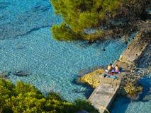Kamp DE Mar Beach, Mallorca Royalty-vrije Stock Afbeeldingen