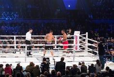 Kamp för den interkontinentala titeln Oleksandr Usyk för WBO vs Pedro Royaltyfri Foto