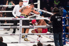 Kamp för den interkontinentala titeln Oleksandr Usyk för WBO vs Pedro Arkivbild
