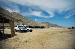 Kamp in het Sinai schiereiland Stock Afbeeldingen