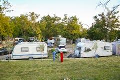 Kamp Njivice op eiland Krk Royalty-vrije Stock Afbeeldingen