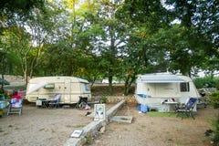 Kamp Njivice op eiland Krk Royalty-vrije Stock Foto