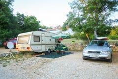 Kamp Njivice op eiland Krk Stock Afbeelding