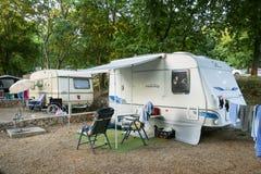 Kamp Njivice op eiland Krk Royalty-vrije Stock Foto's