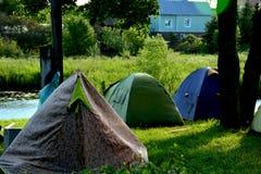 Kamp van fietsers in Suzdal Stock Afbeelding