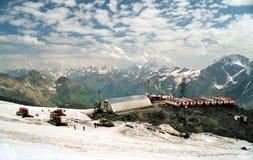 Kamp van klimmers Stock Foto's