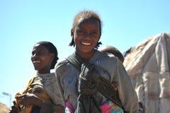 Kamp voor Afrikaanse vluchtelingen en ontheemde op de rand van Hargeisa in Somaliland onder de V.N.-auspiciën stock afbeelding