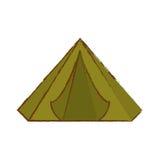 Kamp waar het militaire rust pictogrambeeld royalty-vrije illustratie