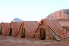 Kamp in wadiRum Royalty-vrije Stock Fotografie