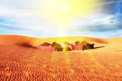 Kamp in woestijn Royalty-vrije Stock Afbeelding