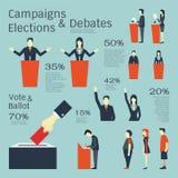 Kampagnen und Wahlen Stockbild