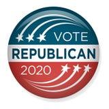 2020 Kampagnen-Wahl Pin Button oder Ausweis mit patriotischen Sternen Lizenzfreie Stockfotos