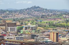 Kampala. Seen from the minaret of uganda national mosque Royalty Free Stock Image