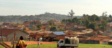 Kampala Uganda Suburbs Panoramic. Panoramic view of some of the suburbs of Kampala, Uganda royalty free stock photos